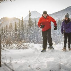 Snowshoeing in the Annie Lake area.
